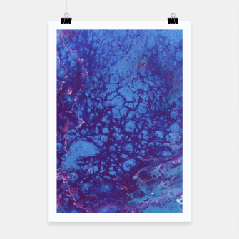 Thumbnail image of Smaller Reality - Teal, Pink, Purple Abstract Poster, Live Heroes