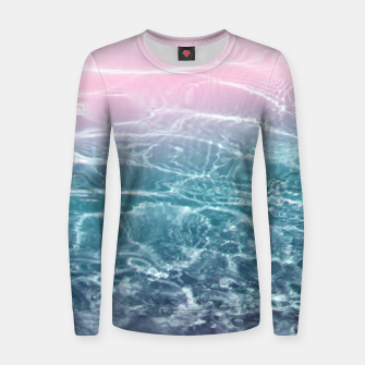 Thumbnail image of Pink Blue Ocean Dream #1 #water #decor #art  Frauen sweatshirt, Live Heroes