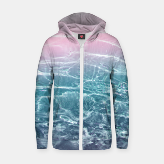 Thumbnail image of Pink Blue Ocean Dream #1 #water #decor #art  Reißverschluss kapuzenpullover, Live Heroes