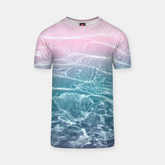 Thumbnail image of Pink Blue Ocean Dream #1 #water #decor #art  T-Shirt, Live Heroes