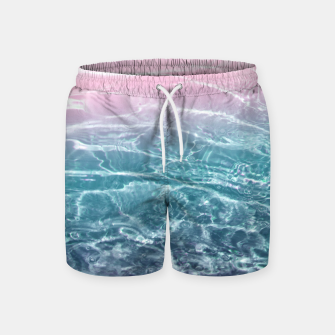 Thumbnail image of Pink Blue Ocean Dream #1 #water #decor #art  Badeshorts, Live Heroes