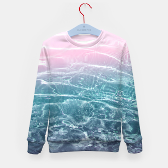 Thumbnail image of Pink Blue Ocean Dream #1 #water #decor #art  Kindersweatshirt, Live Heroes