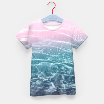 Thumbnail image of Pink Blue Ocean Dream #1 #water #decor #art  T-Shirt für kinder, Live Heroes