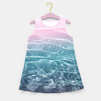 Miniaturka Pink Blue Ocean Dream #1 #water #decor #art  Mädchen-Sommerkleid, Live Heroes