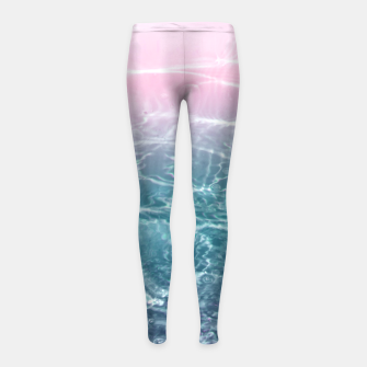 Thumbnail image of Pink Blue Ocean Dream #1 #water #decor #art  Kinder-Leggins, Live Heroes