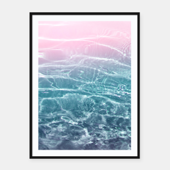 Thumbnail image of Pink Blue Ocean Dream #1 #water #decor #art  Plakat mit rahmen, Live Heroes