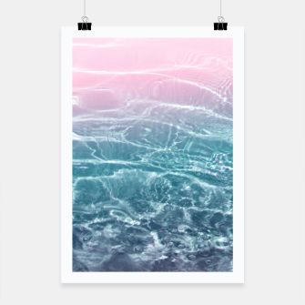 Thumbnail image of Pink Blue Ocean Dream #1 #water #decor #art  Plakat, Live Heroes