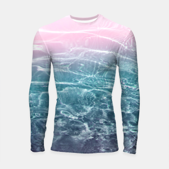 Thumbnail image of Pink Blue Ocean Dream #1 #water #decor #art  Longsleeve rashguard, Live Heroes