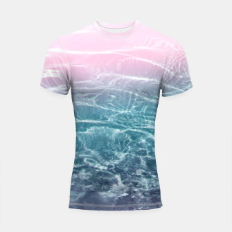 Thumbnail image of Pink Blue Ocean Dream #1 #water #decor #art  Shortsleeve rashguard, Live Heroes