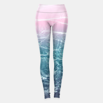 Thumbnail image of Pink Blue Ocean Dream #1 #water #decor #art  Leggings, Live Heroes