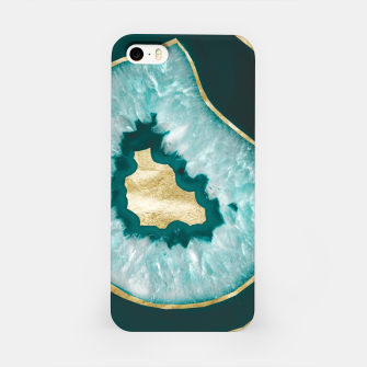 Miniaturka Moon Stone Agate Gold Foil Glam #1 #gem #decor #art iPhone-Hülle, Live Heroes
