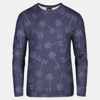 Indigo blue Small palms pattern Unisex sweater thumbnail image
