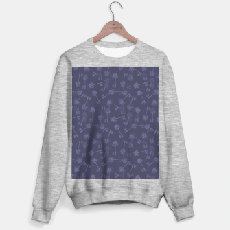 Indigo blue Small palms pattern Sweater regular thumbnail image