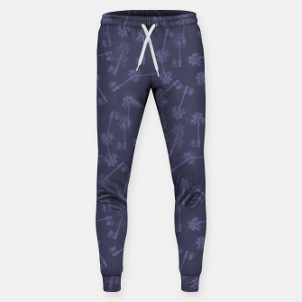 Indigo blue Small palms pattern Sweatpants thumbnail image