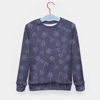 Indigo blue Small palms pattern Kid's sweater thumbnail image