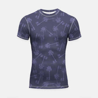 Indigo blue Small palms pattern Shortsleeve rashguard thumbnail image