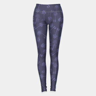 Indigo blue Small palms pattern Leggings thumbnail image