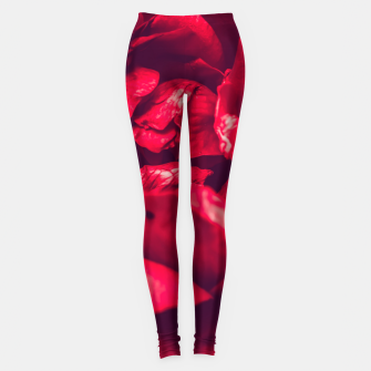 Thumbnail image of red rose Leggings, Live Heroes