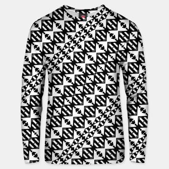 Miniatur Black and White Tribal Unisex sweater, Live Heroes