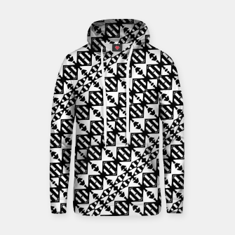 Miniatur Black and White Tribal Hoodie, Live Heroes