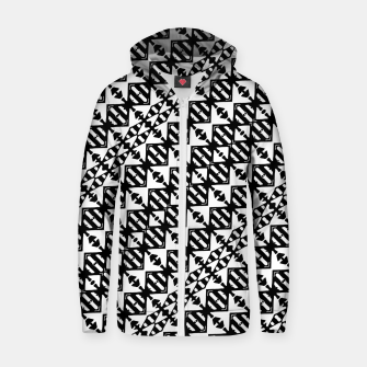 Miniatur Black and White Tribal Zip up hoodie, Live Heroes