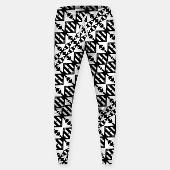 Miniatur Black and White Tribal Sweatpants, Live Heroes