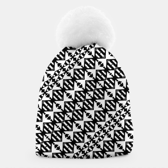 Miniatur Black and White Tribal Beanie, Live Heroes
