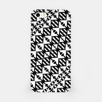 Miniatur Black and White Tribal iPhone Case, Live Heroes