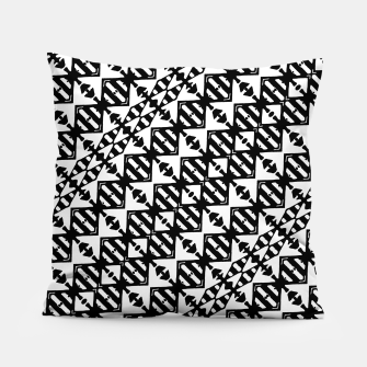 Miniatur Black and White Tribal Pillow, Live Heroes