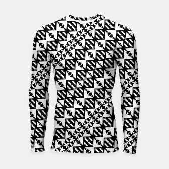 Miniatur Black and White Tribal Longsleeve rashguard , Live Heroes