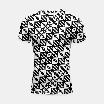 Miniatur Black and White Tribal Shortsleeve rashguard, Live Heroes