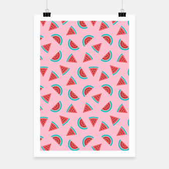 Thumbnail image of Watermelon Fruit Pattern Poster, Live Heroes