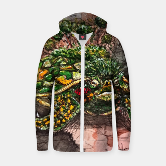 Thumbnail image of Young World Zip up hoodie, Live Heroes