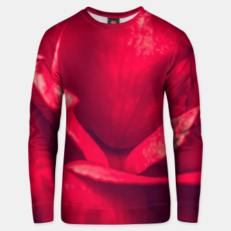 Miniatur red rose Unisex sweater, Live Heroes