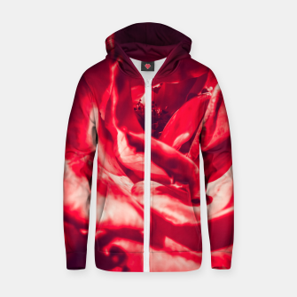 Thumbnail image of red rose Zip up hoodie, Live Heroes