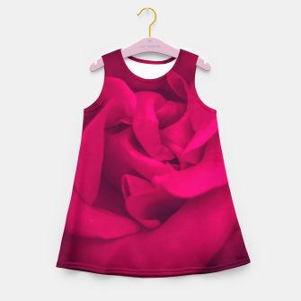 Thumbnail image of red rose Girl's summer dress, Live Heroes