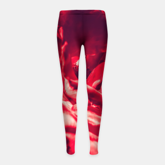 Thumbnail image of red rose Girl's leggings, Live Heroes