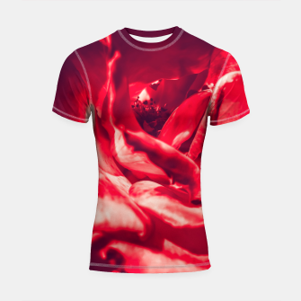 Thumbnail image of red rose Shortsleeve rashguard, Live Heroes