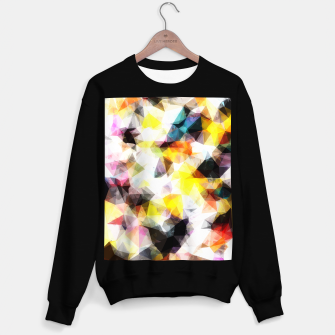 Thumbnail image of geometric triangle pattern abstract background in yellow brown pink Sweater regular, Live Heroes