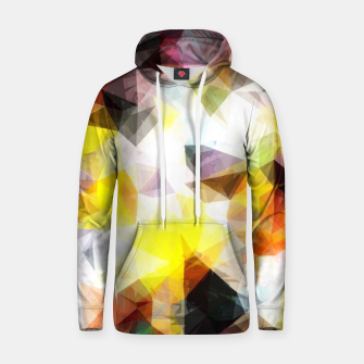 Thumbnail image of geometric triangle pattern abstract background in yellow brown pink Hoodie, Live Heroes
