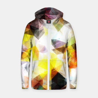 Thumbnail image of geometric triangle pattern abstract background in yellow brown pink Zip up hoodie, Live Heroes