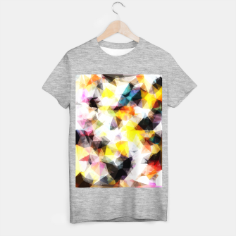 Thumbnail image of geometric triangle pattern abstract background in yellow brown pink T-shirt regular, Live Heroes