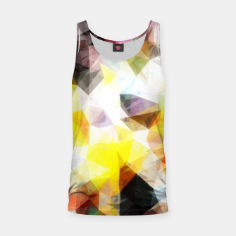 Thumbnail image of geometric triangle pattern abstract background in yellow brown pink Tank Top, Live Heroes