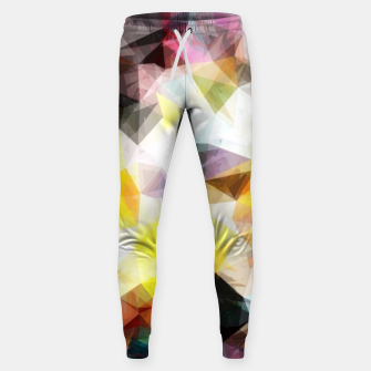 Thumbnail image of geometric triangle pattern abstract background in yellow brown pink Sweatpants, Live Heroes