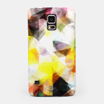 Thumbnail image of geometric triangle pattern abstract background in yellow brown pink Samsung Case, Live Heroes