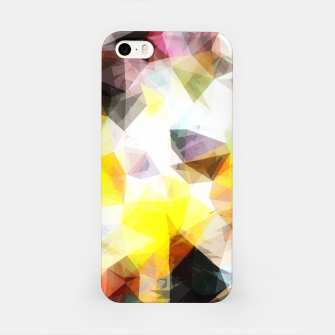 Thumbnail image of geometric triangle pattern abstract background in yellow brown pink iPhone Case, Live Heroes