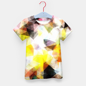 Thumbnail image of geometric triangle pattern abstract background in yellow brown pink Kid's t-shirt, Live Heroes