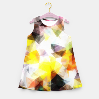 Thumbnail image of geometric triangle pattern abstract background in yellow brown pink Girl's summer dress, Live Heroes