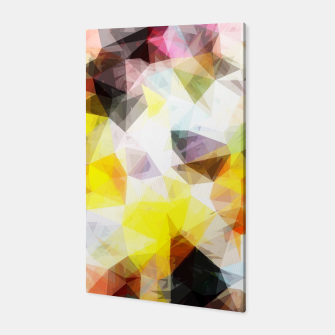 Thumbnail image of geometric triangle pattern abstract background in yellow brown pink Canvas, Live Heroes