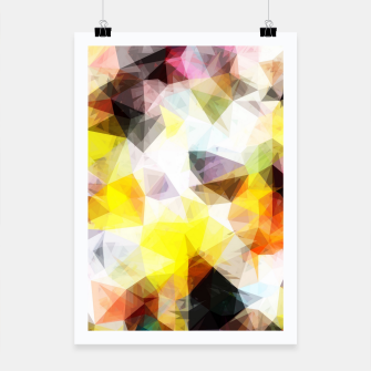 Thumbnail image of geometric triangle pattern abstract background in yellow brown pink Poster, Live Heroes